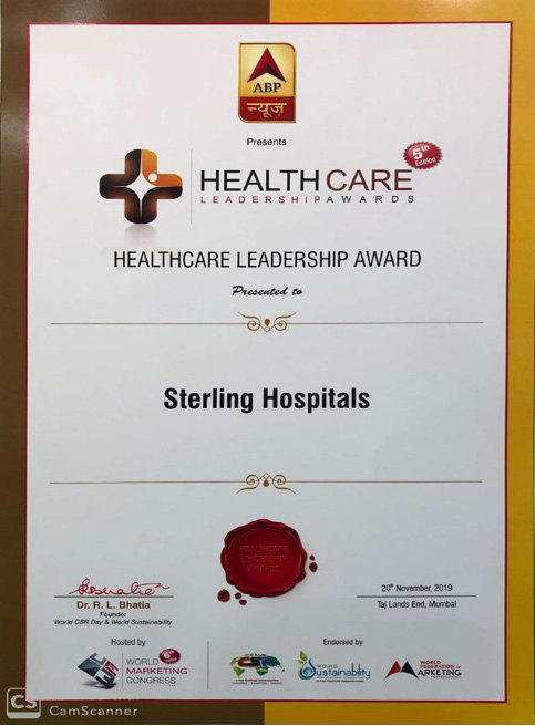 """Healthcare Leadership Award""  by ABP News ( Dec, 2019)"