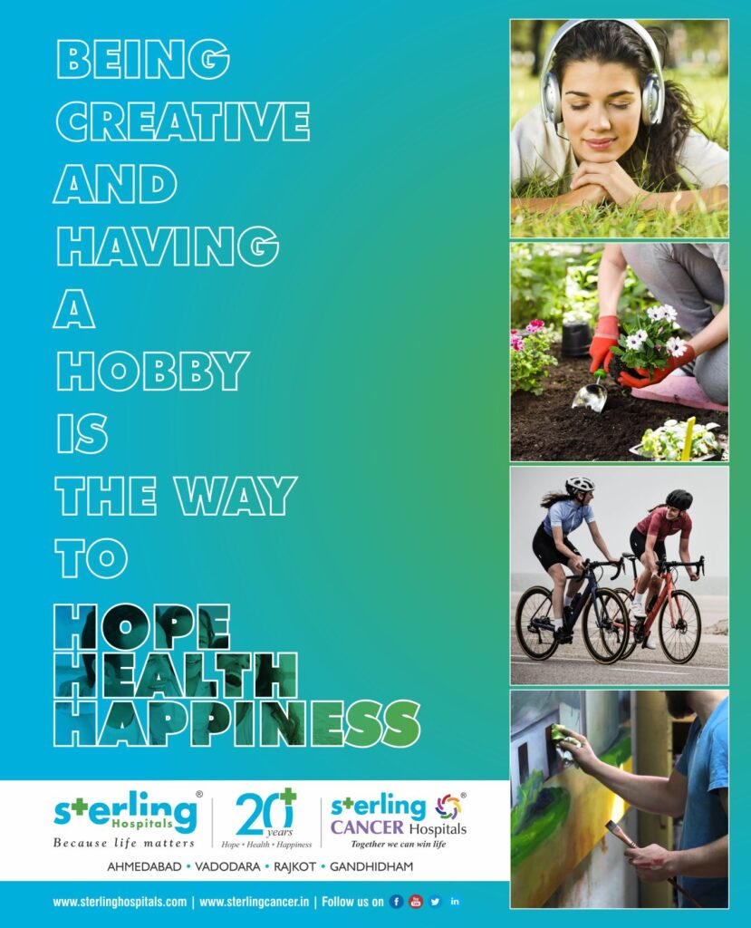 Being Creative and Having a Hobby is the way to Hope Health Happiness